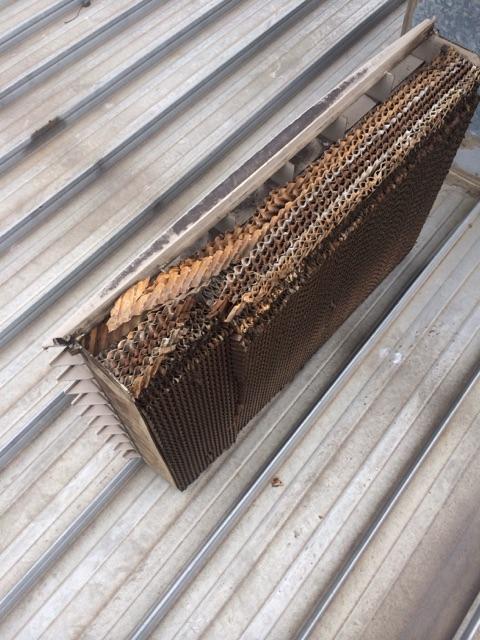 HVAC evaporative cooling pads