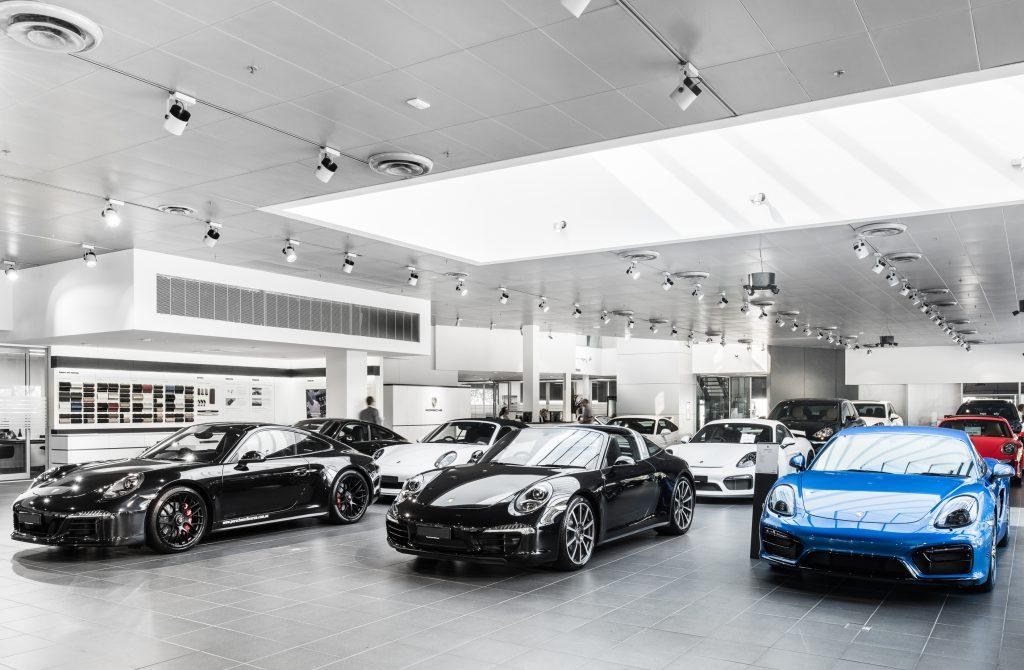 Porsche-automotive-luxury-vehicle-showroom-HVAC-CFM-Air-Conditioning